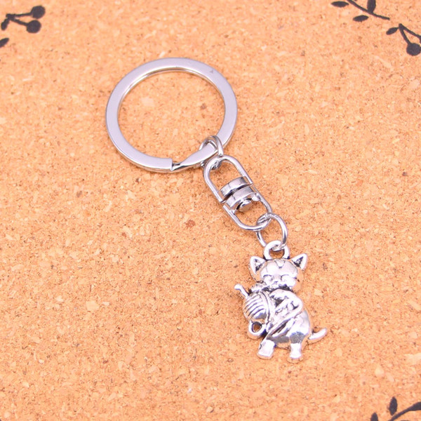 Fashion cat yarn ball Keychain For Men Trinket Portachiavi Car Keyring Key Chain Ring Chaveiro Jewelry Gift Souvenirs