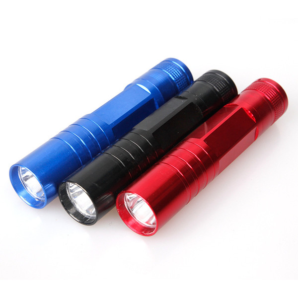 Mini Flashlighs Aluminum Alloy LED Flashlight Mini Torch Promotional Gift Tactical Waterproof Portable 1xAA Battery For Tents