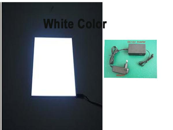 O EL branco do tamanho A4 da cor ilumina acima a cera de exposição elétrica das máscaras para eletrônico nenhum fio do painel do fulgor
