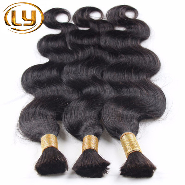 top popular New 2016 Grade 7a Micro mini Braiding Hair Brazilian Bulk Hair For Braiding 3 Bundles Lot 100% Human Wet And Wavy Brazilian Braiding Hair 2019