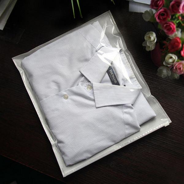50pcs/lot 30cm Width *35cm Half Clear + Half white Non-woven Bag Children's Clothing Bag