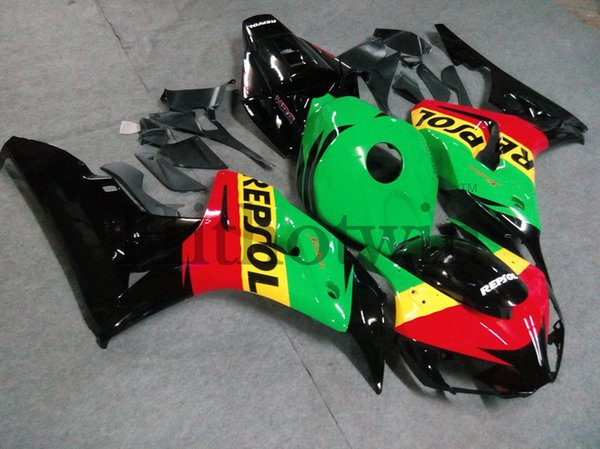 Body Kit red black green repsol ABS Fairing For honda CBR1000RR 2006-2007 CBR 1000 RR 06 07 Aftermarket Motorcycle
