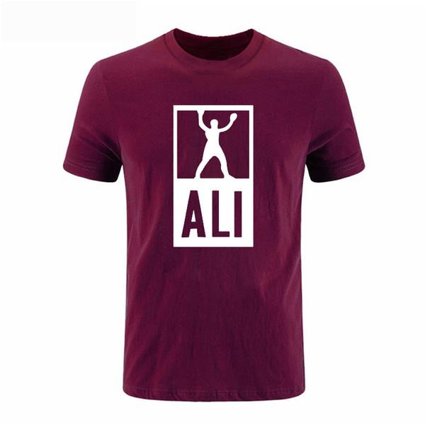2017 New Summer MUHAMMAD ALI Printed T Camisas Homens MMA Camiseta Manga Curta de Fitness roupas Casuais men T shirt DIY-0271D