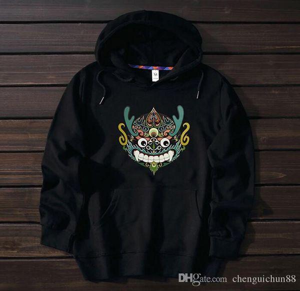 Großhandelsdruck-KaschmirHoodie junge Modemarke loser lustiger Entwurf des sweatershirt