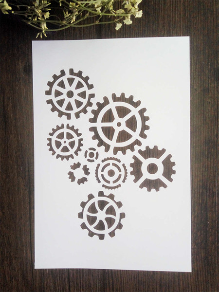 DIY white stencils for kids pattern design Masking template For Scrapbooking,cardmaking,painting,DIY cards,T-shirts-The simple gear