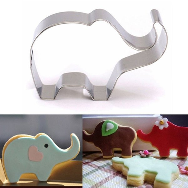 Mayitr Elephant Animal Stainless Steel Cookie Cutter Cake Baking Biscuit Pastry Mould Cake Tools Cupcake Decorator 8x5.5x2cm