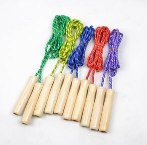 100pcs Exercise School Wooden Handle Skipping Ropes Outdoor Toy Children Kid Fitness Exercise Speed Jump Rope Outdoor Sport Free Shipping