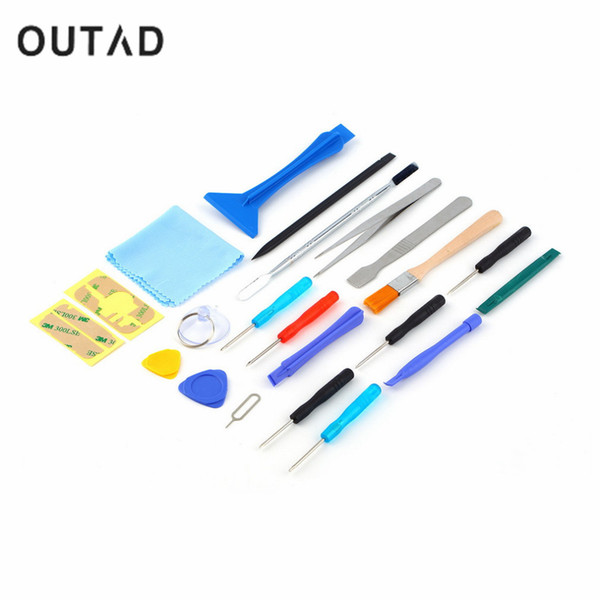 2017 OUTAD Newest Hot Sale 22 in 1 Open Pry Mobile Phone Repair Screwdrivers Sucker hand Tools set Kit for Cell Phone Tablet