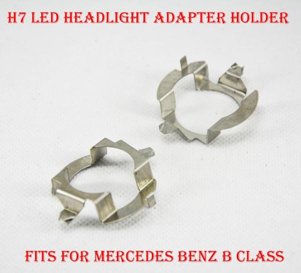 top popular 2PCS H7 LED Headlight Conversion Kit Bulb Metal Iron Base Holder Adapter Retainer Socket Clip For Mercedes Benz B Class Upgrade HID Halogen 2021