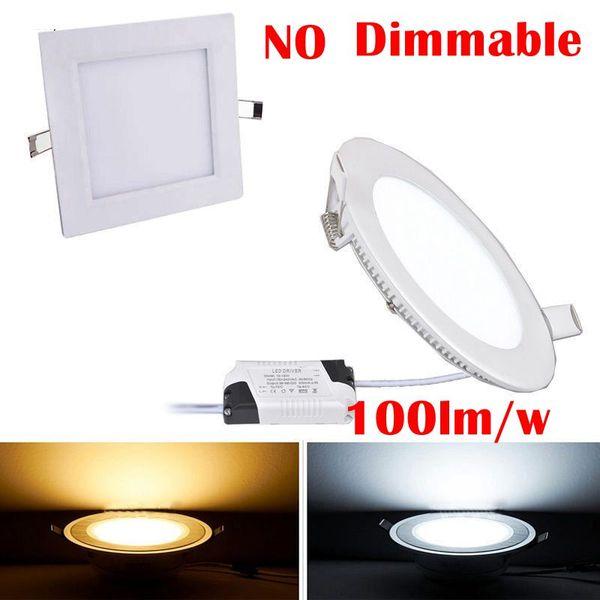 20 pcs 3 w 6 w 9 w 12 w 15 w 18 w 24 w quadrado led downlight painel ultra fino do teto do diodo emissor de luz recesso luz do painel ac85-265v led lâmpada lâmpadas