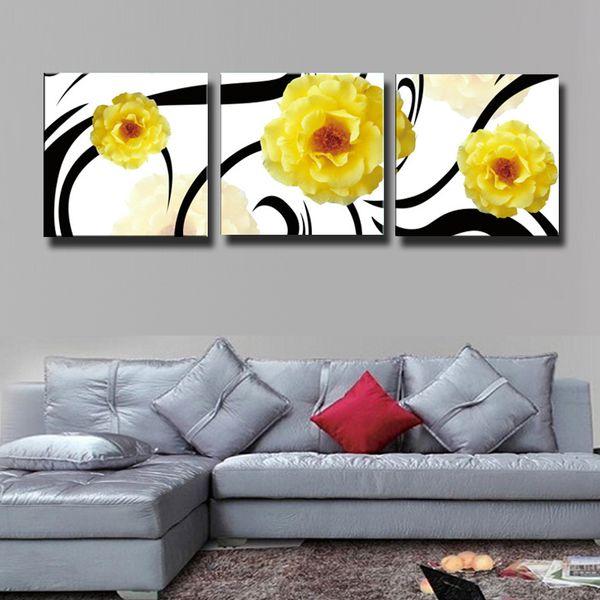 Acheter Set Abstrait Jaune Rose Peinture Toile Mur Art Photo Décoration Décoration Salon Impression Sur Toile Peinture Moderne 121 De 26 14 Du