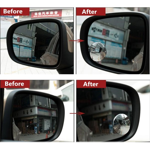 1 Pair Auto Blind Spot Mirror Rear View Mirror 360 Degree Adjustable Mirror for Car