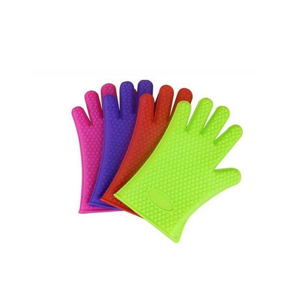 Free DHL/Fedex, 100pcs Heat Resistant Silicone Glove Cooking Baking BBQ Oven Pot Holder Mitt Kitchen Tools