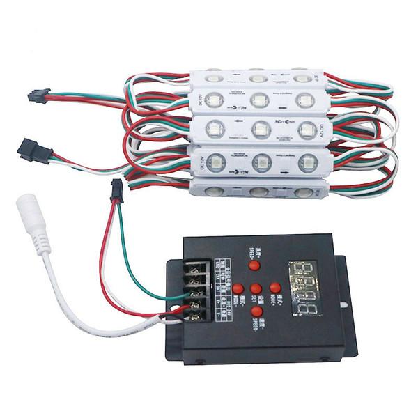 WS2811 2811 IC 3led 5050 RGB LED 픽셀 디지털 모듈 스트링 라이트 방수 DC 12V + 1pcs 무료 T-500 풀 컬러 컨트롤러