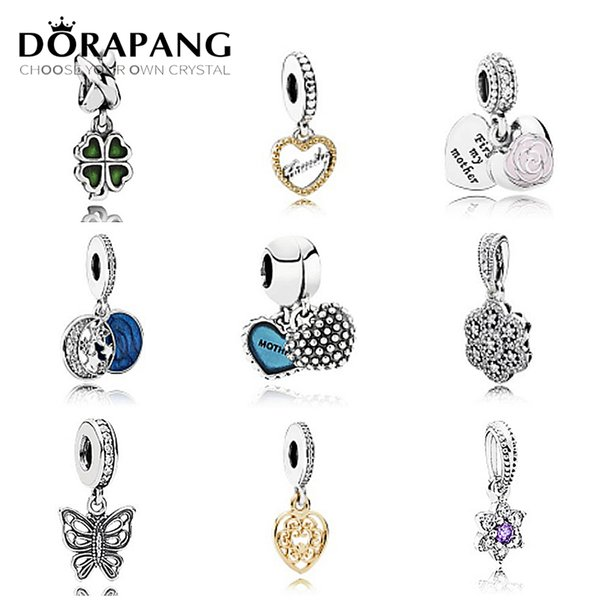 DORAPANG 925 Sterling Silver Pan Pendant Pearl Jewelry Making Fits Charm bead Collocation Bracelet DIY Factory wholesale