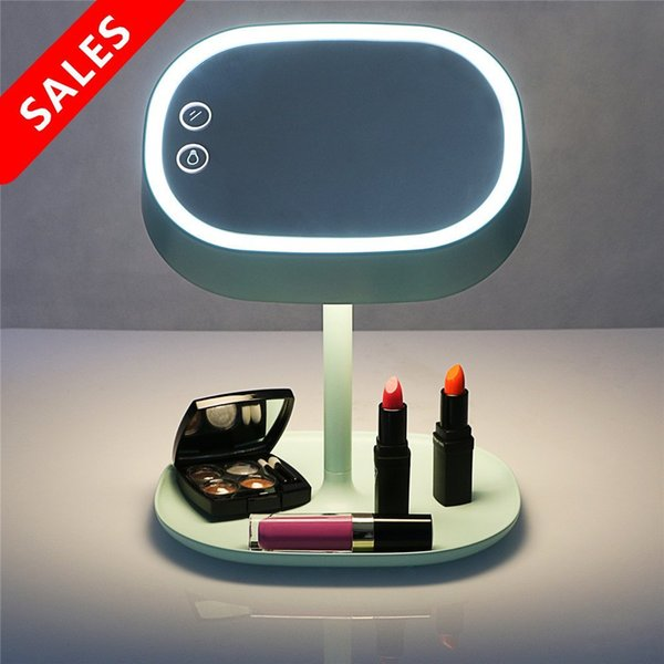 Led Makeup Mirror Light Rechargeable Led Lighting Makeup Vanity Mirror With Table Lamp For Bedroom Home Decor Large White Wooden Mirror Large Wood