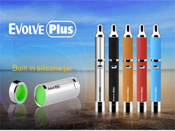 Colorful Authentic Yocan Evolve Plus Kit 1100mAh Battery Quartz Dual Coil Wax Vaporizer Pen E Cigarettes Kits DHL