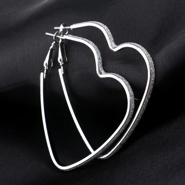 top popular Love Heart Pendant Earrings Silver Gold Plated Hoop Earrings Rings Ear Cuffs Pendants Fashion Jewelry for Women Gift Drop Shipping 2019