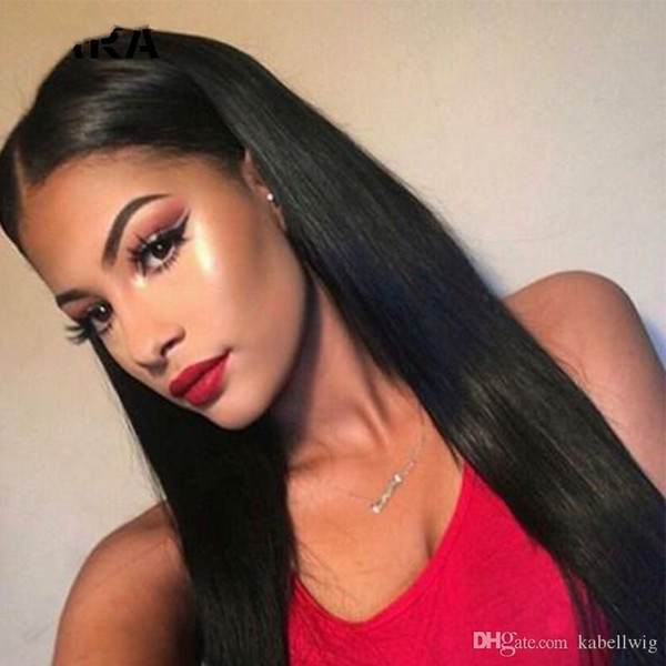full Lace Wig Best Light Yaki FULL LACE WIGS Shoes And Baby Wig Virgin Hair 100% Brazilian Straight Before Baseline Silk Woven Black Women