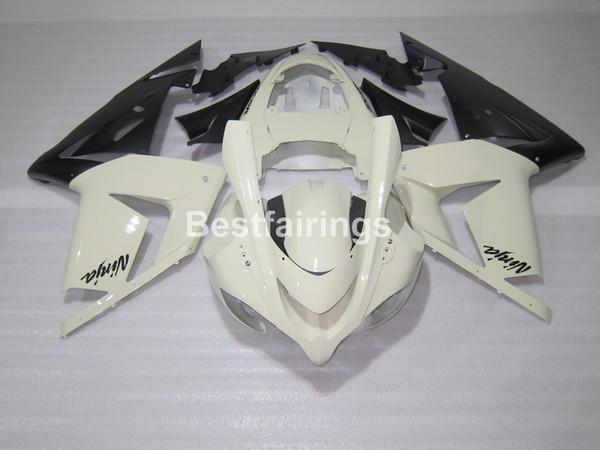 Hot Sale Plastic Fairing Kit For Kawasaki Ninja Zx10r 04 05 White ...