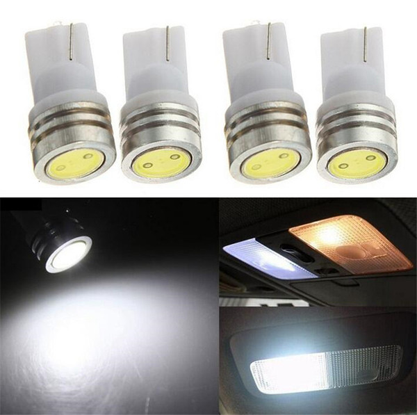 2pcs/lot T10 194 168 W5W 1 SMD LED White Car Auto Side Wedge Tail Light Bulb Turn Signal Parking Marker Lamp DC 12V Car Styling