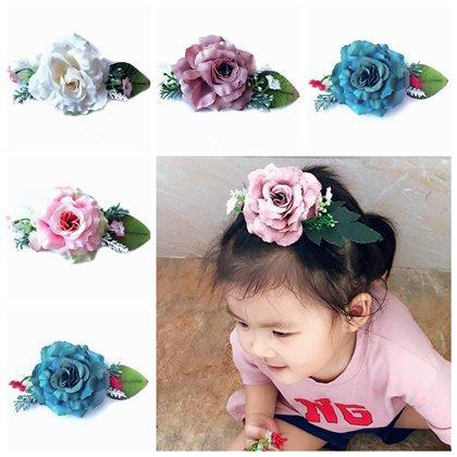Baby Fake Artificial Flower Hair Accessories Girls Silk Flowers Hair