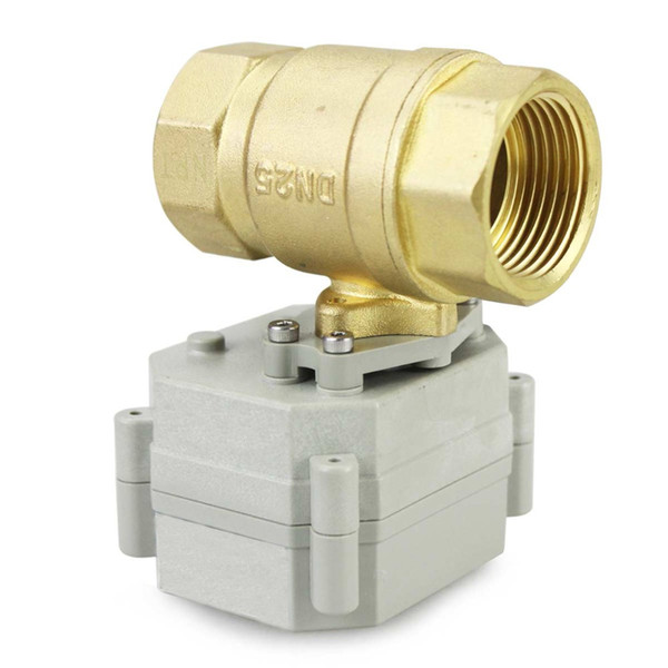 """Wholesale price Free shipping YIDAY 1"""" DN25 DC12V/24V 2 Way Motorized Ball Valve, Normally Closed Brass CR2-02 Electric Ball Valve"""
