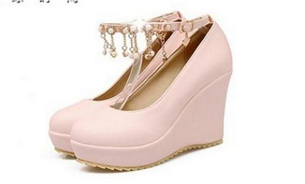 Fall 2017 single shoes since with waterproof light mouth round head joker Diamond wedges FuRuiSource