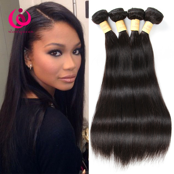 8APeruvian Straight Hair Weave Bundles 4pcs/lot 8-28inch Wow Queen Hair Prdoducts Cheap Price Soft and Thick Peruvian Virgin Hair Extensions
