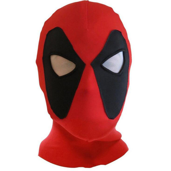 Lycra Super Stretch Deadpool Mask Halloween Cosplay Deadpool Tights Hood Party Masks For Adults Deadpool Full Face Masks