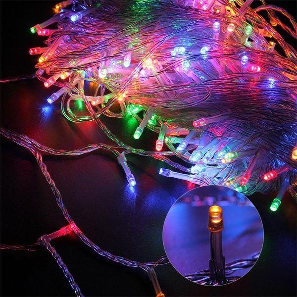 10m 100les led Fairy Light wedding christmas Holiday decoration String Lights with 110v 220v US EU
