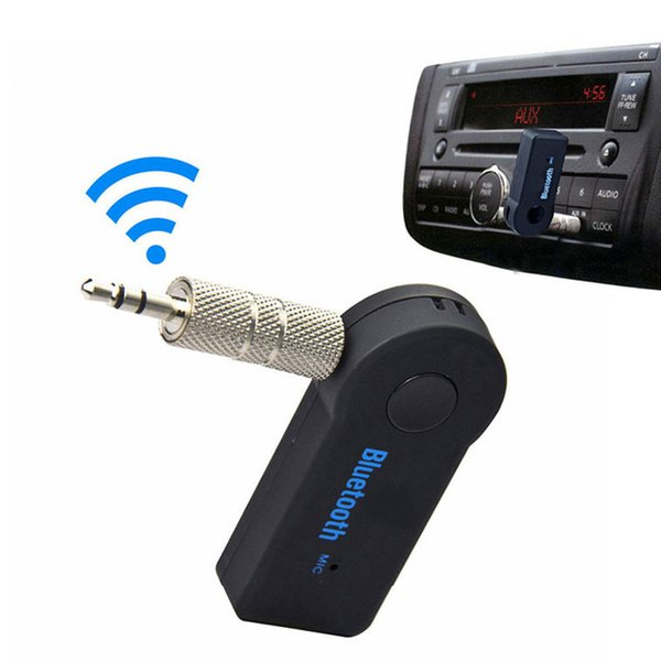 2017 Universal 3.5mm Bluetooth Car Kit A2DP Wireless AUX Audio Music Receiver Adapter Handsfree with Mic For Phone MP3