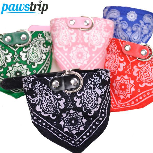 Wholesale- 1Pc Lovely Pet Dog Scarf Collar Adjustable Puppy Bandana Quality Pet Cat Tie Collar
