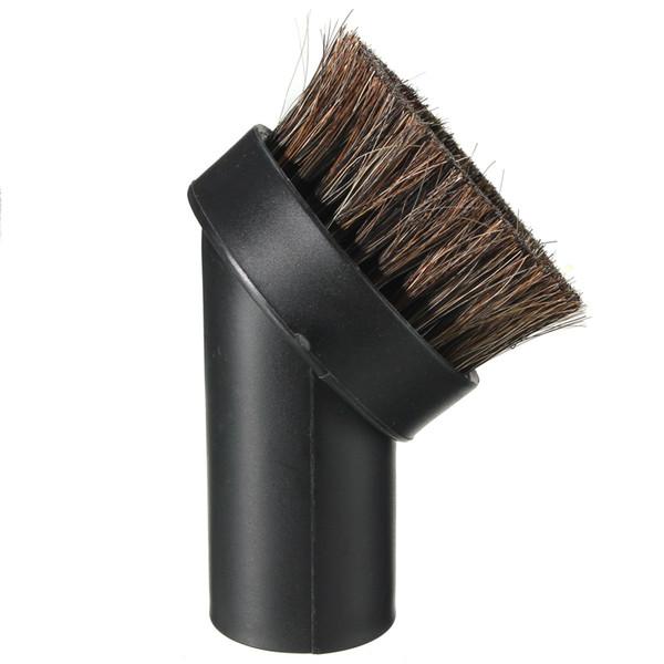 "Wholesale- Black 1 1/4"" Universal Horse Hair Dust Brush Fit 1.25"" Attachment Vacuum Tool"