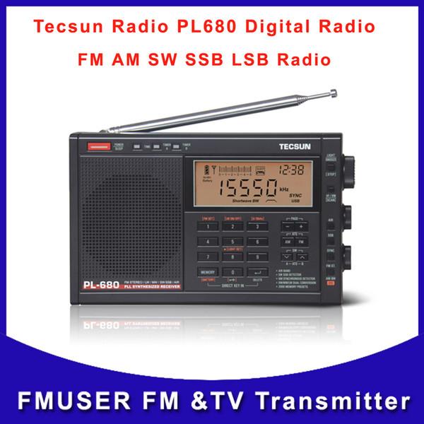 Wholesale-Free Shipping Tecsun PL-680 High Performance Full Band Digital Tuning Stereo Radio FM AM Radio SW SSB