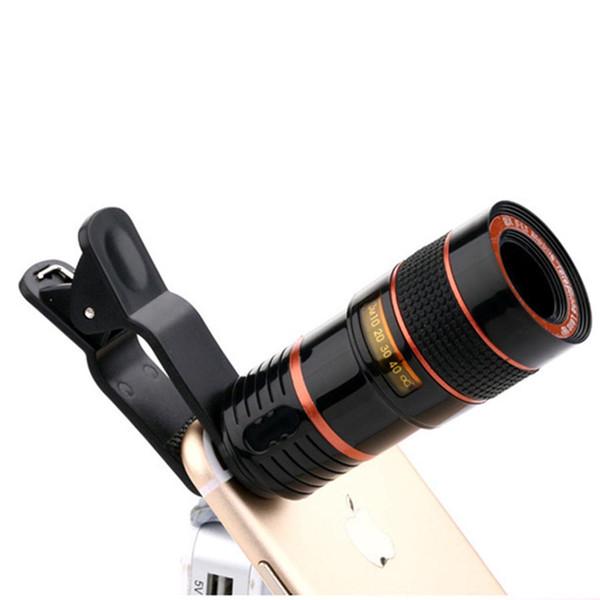 Lente di ingrandimento universale per telescopio con zoom Lente di ingrandimento 8X 12X per iPhone Samsung LG Huawei Cellulare