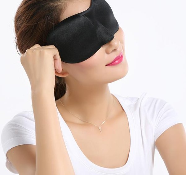 top popular Travel 3D Eye Mask Sleep Soft Sponge Padded Shade Cover Rest Relax Sleeping Blindfold Aid Eyemasks gift 2019