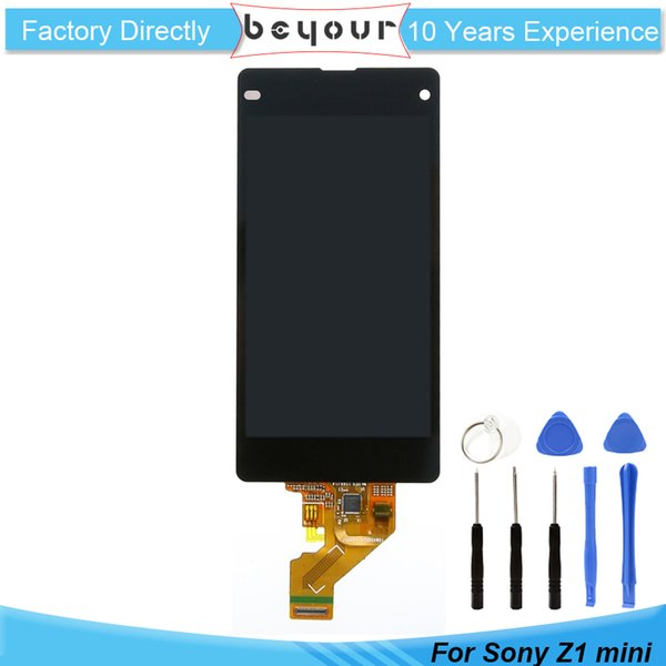 Per Sony Per Xperia Z1 Mini Compact D5503 Touch Digitizer LCD Screen Assembly Assembly nero parti di riparazione