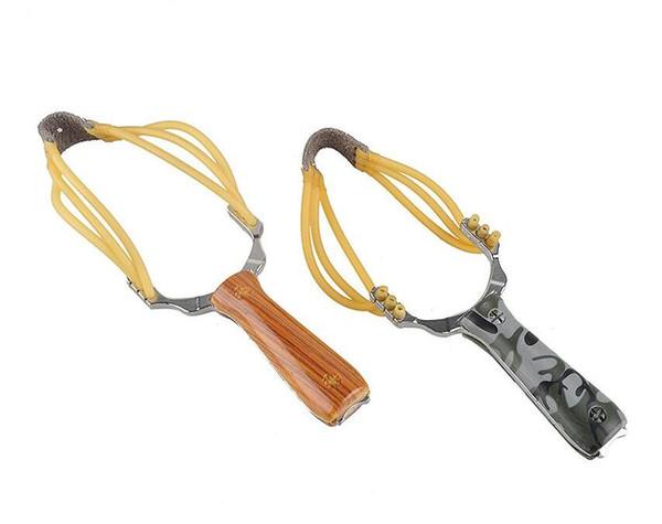 Powerful Sling Shot Aluminium Alloy Slingshot Camouflage Bow Catapult Portable Outdoor Hunting Slingshot