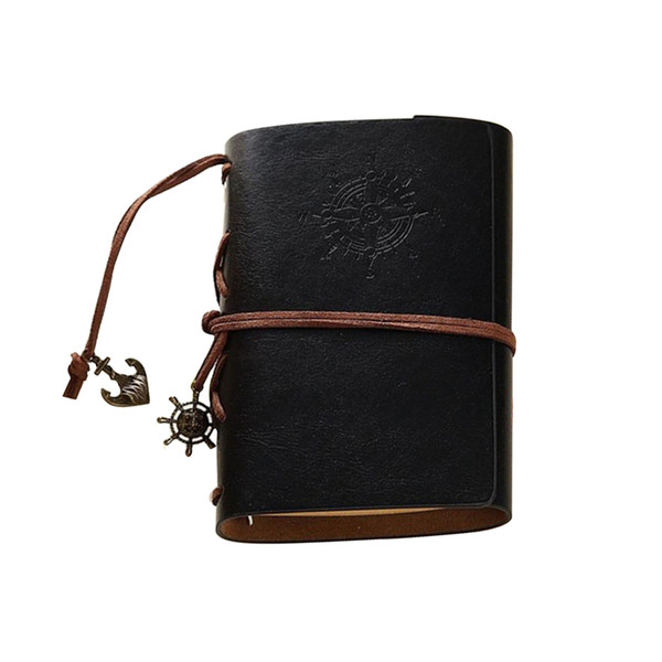 Оптовая Продажа-A6 / A7 Ретро Личность Ноутбук Журнал Блокноты Кольцо Связующее Дневник Ноутбук Черный