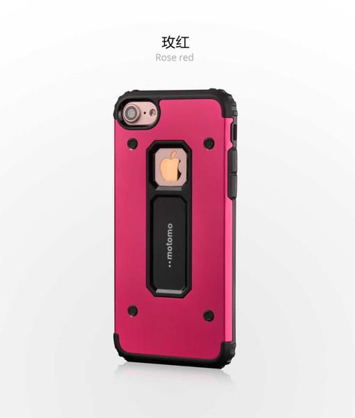2017 Nouveau gros TPU venir Motomo Boîtier métallique anti-choc arrière Coques pour iPhone 7 7 plus 6 6s, plus Phone Cases