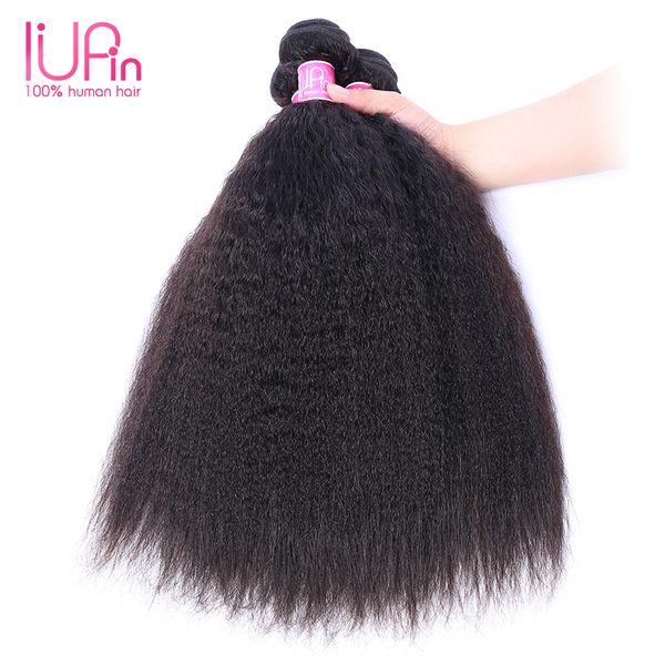 Brazilian Virgin Human Hair 3 Bundles Yaki Straight Hair Extension Peruvian Malaysian Indian Combodian Yaki Curly Human Hair Wefts