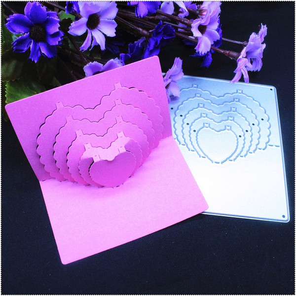 Love card New Metal Cutting Dies Stencil for DIY Scrapbooking Photo Album Paper Card Creation Gift Decoration Embossing Folder Framelit Die