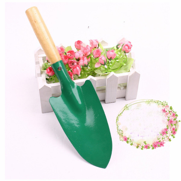 Wholesale gardening tools, wooden handle shovels, flowers and weeding small shovels, small shovels,4 color, free shipping