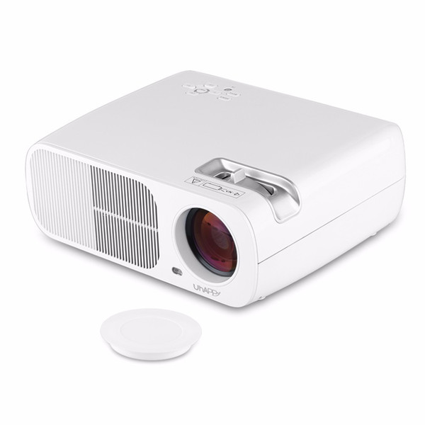 Wholesale-Uhappy BL20 LCD LED Projector 800*480 Support 1080P 2600LMs Home Cinema Beamer With USB/HDMI/ATV/AV/VGA Support Red-Blue 3D