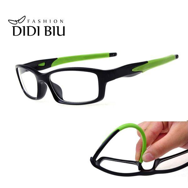 best selling DIDI TR90 Titanium Eyeglass Anti-Explosion Casual Glasses Rectangle Silicone Clear Eye Glasses Myopia Optical Eyewear Frame U528