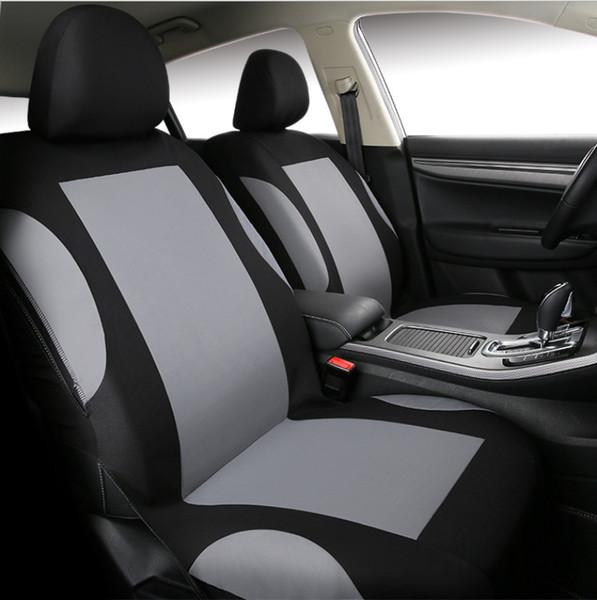 Polyester Gris 5-Siege Housse de Siege Voiture Avant et Arriere Protection Auto sur Mesure Protecteur Accessoires Interieur saferide