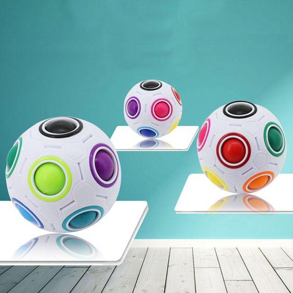 Rainbow Ball Magic Cube Velocità Calcio Divertimento Creativo Puzzle sferici Bambini Giocattoli educativi di apprendimento Giochi Bambini Regali per adulti WX-T75