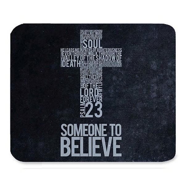 top popular Inspirational Christian Bible Verse Faith Scripture Quotes Beautiful Best Gift Art Pattern Design Unique Custom Rectangle Mouse Pad 2020