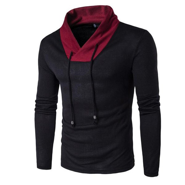 Wholesale- 2016 Pure Cotton Sweaters Men Best Style V Neck Mens Sweaters Brand Jersey Pullover Male Autumn Winter Knitwear Dress XXL